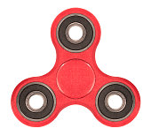 Cinco trucos para jugar con el fidget spinner rojo
